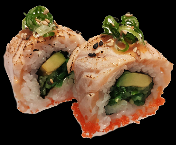 Foto Flamed Salmon Roll (4 stuks)